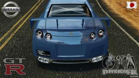 Nissan GT-R 35 rEACT v1.0 для GTA 4 вид сверху