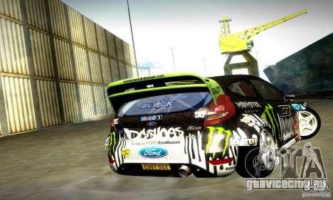Ford Fiesta Gymkhana 4 для GTA San Andreas вид сзади