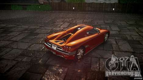 Koenigsegg CCX v1.1 для GTA 4 вид сзади слева