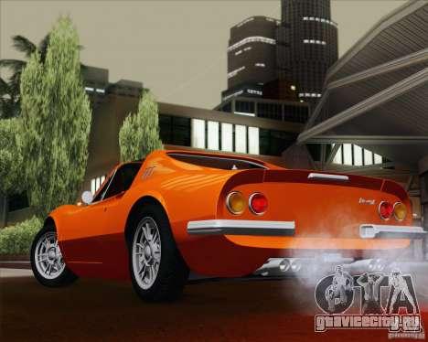 Ferrari 246 Dino GTS для GTA San Andreas вид сбоку