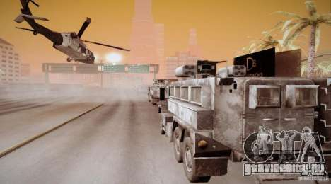 Black Hawk from BO2 для GTA San Andreas вид сзади