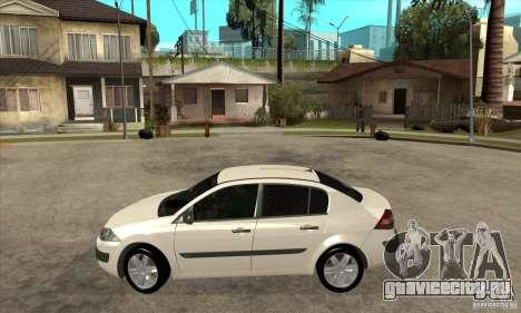 Renault Megane II Sedan для GTA San Andreas вид слева