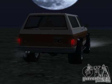 Rancher из GTA 4 для GTA San Andreas вид сзади слева