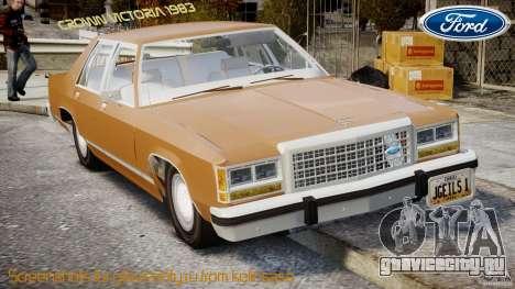 Ford Crown Victoria 1983 для GTA 4