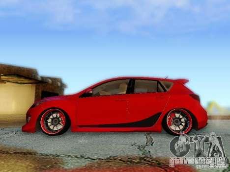 Mazda Speed 3 2010 для GTA San Andreas вид сзади слева