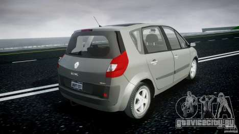 Renault Scenic II Phase 2 для GTA 4 вид изнутри