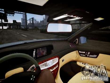 Mercedes-Benz CL65 AMG для GTA 4 вид изнутри