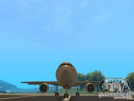 Airbus A300-600 Air France для GTA San Andreas вид изнутри
