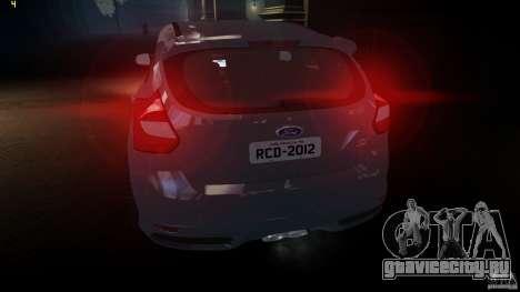 Ford Focus 3 ST для GTA 4 вид сзади слева