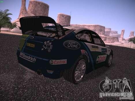 Ford Focus RS WRC 2006 для GTA San Andreas вид сзади слева