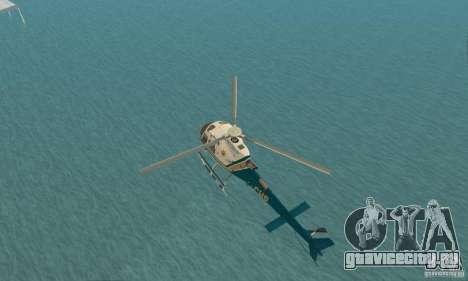 AS350 Ecureuil для GTA San Andreas вид сзади