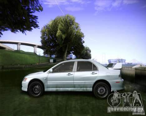 Mitsubishi Lancer Evolution VIII MR для GTA San Andreas вид сзади слева