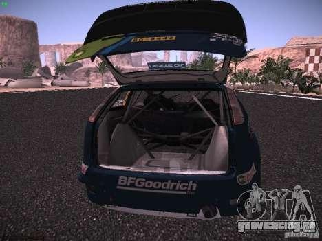 Ford Focus RS WRC 2006 для GTA San Andreas вид сверху
