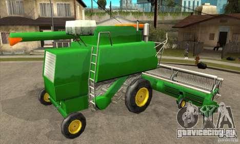 Combine Harvester Retextured для GTA San Andreas вид справа