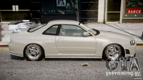 Nissan Skyline R34 Nismo для GTA 4 вид изнутри
