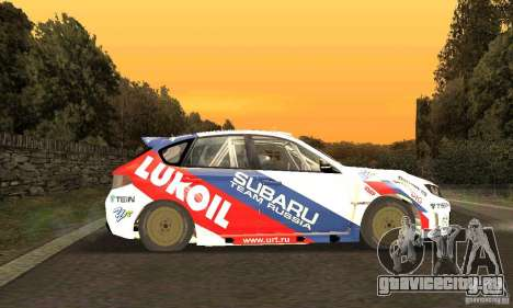 Subaru Impreza WRX STi Russia Rally для GTA San Andreas вид изнутри