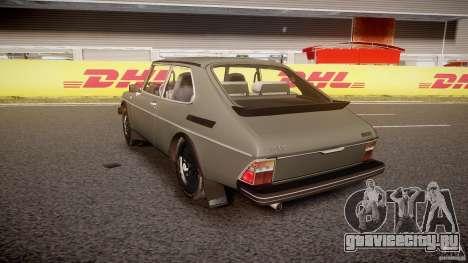 SAAB 99 Turbo 1978 для GTA 4 вид сзади слева