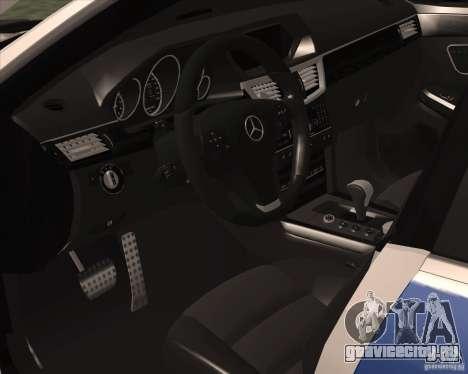 Mercedes-Benz E63 AMG W212 для GTA San Andreas вид сзади