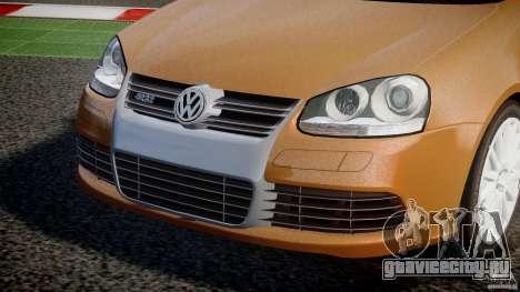 Volkswagen Golf R32 v2.0 для GTA 4 вид изнутри