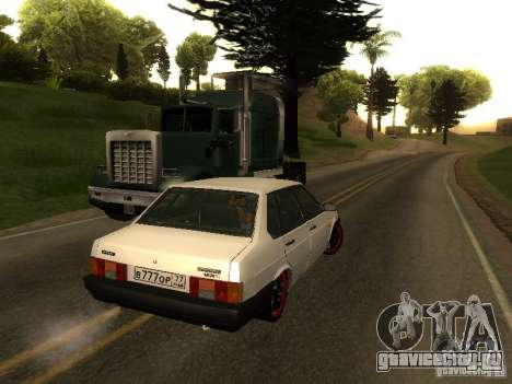 ВАЗ 21099 v.2 для GTA San Andreas вид сзади слева