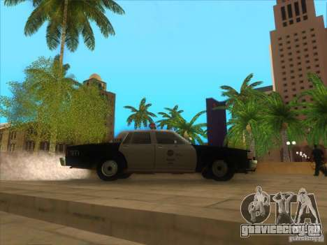 Chevrolet Caprice Interceptor LAPD 1986 для GTA San Andreas вид сзади