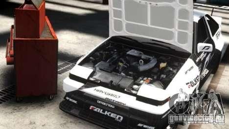 Toyota Corolla GT-S AE86 EPM для GTA 4 вид сзади слева