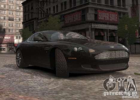 Aston Martin DB9 2008 v 1.0 для GTA 4 вид сверху