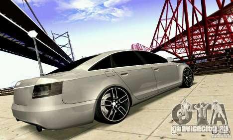 Audi A6 Blackstar для GTA San Andreas вид изнутри