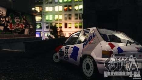 Peugeot 205 Rally для GTA 4 вид слева