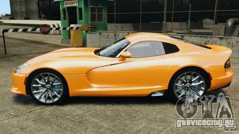 SRT Viper GTS 2013 для GTA 4 вид слева