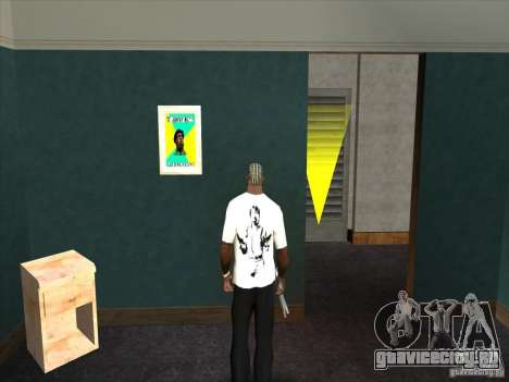 Футболка с Чаком Норрисом для GTA San Andreas второй скриншот