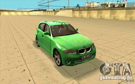 BMW 118i для GTA San Andreas вид сзади