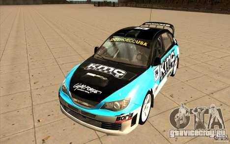 Новые винилы к Subaru Impreza WRX STi для GTA San Andreas вид сзади