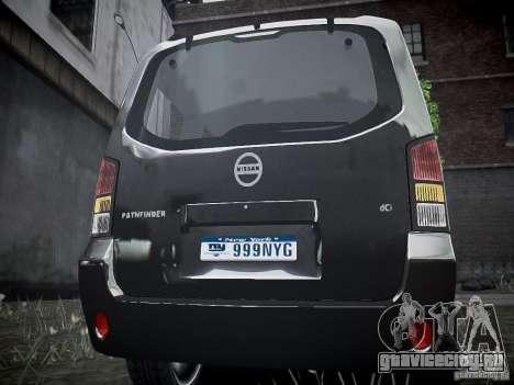 Nissan Pathfinder 2010 для GTA 4 вид справа