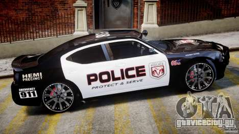Dodge Charger NYPD Police v1.3 для GTA 4 вид снизу