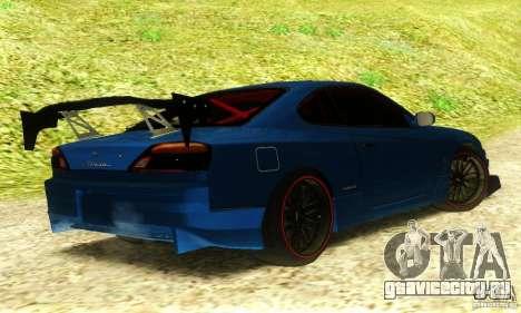 Nissan Silvia S15 Tuned для GTA San Andreas вид слева
