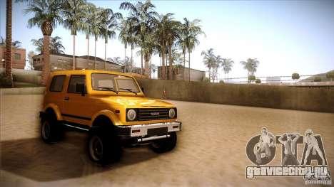Suzuki Samurai для GTA San Andreas вид сзади слева