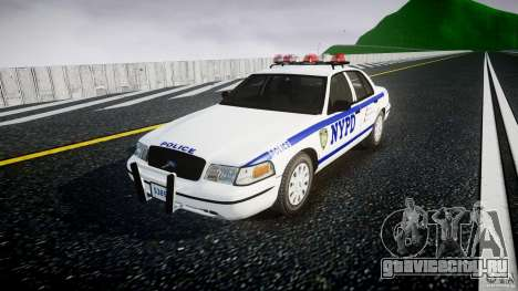 Ford Crown Victoria Police Department 2008 NYPD для GTA 4 вид справа