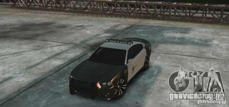 Dodge Charger 2011 Police для GTA 4 вид сзади