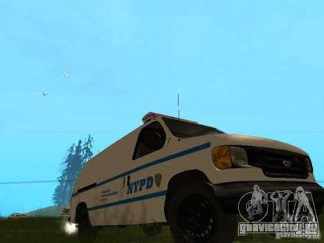 Ford E-150 NYPD Police для GTA San Andreas вид слева