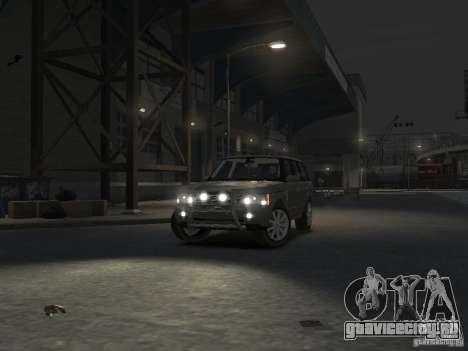 Range Rover Supercharged 2008 для GTA 4 вид сверху