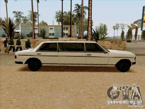 Admiral Limo для GTA San Andreas вид слева