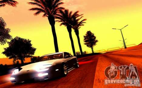 Nissan 150SX Drift для GTA San Andreas вид сзади