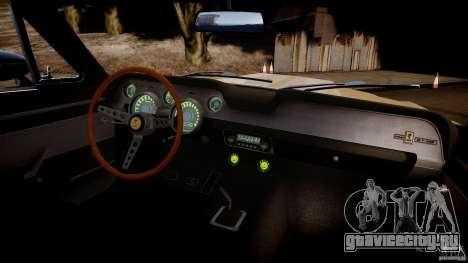 Shelby Mustang GT500 Eleanor v.1.0 Non-EPM для GTA 4 вид изнутри