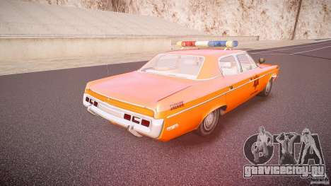 AMC Matador Hazzard County Sheriff [ELS] для GTA 4 вид сверху
