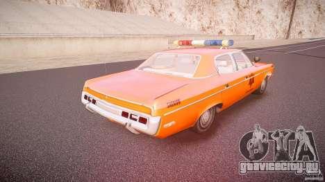 AMC Matador Hazzard County Sheriff [ELS] для GTA 4 вид сверху