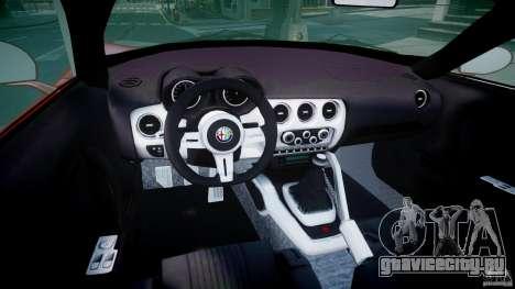 Alfa Romeo 8C Competizione для GTA 4 вид справа