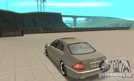Mercedes-Benz S65 AMG 2004 для GTA San Andreas вид сзади слева