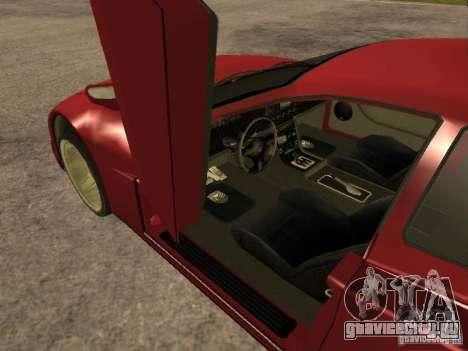 HD Cheetah для GTA San Andreas вид сзади слева