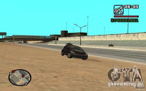 Chrysler PT Cruiser для GTA San Andreas вид сзади слева